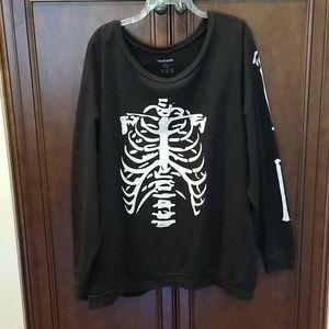 Black Sweatshirt w/ Skeleton print sz 3X READ